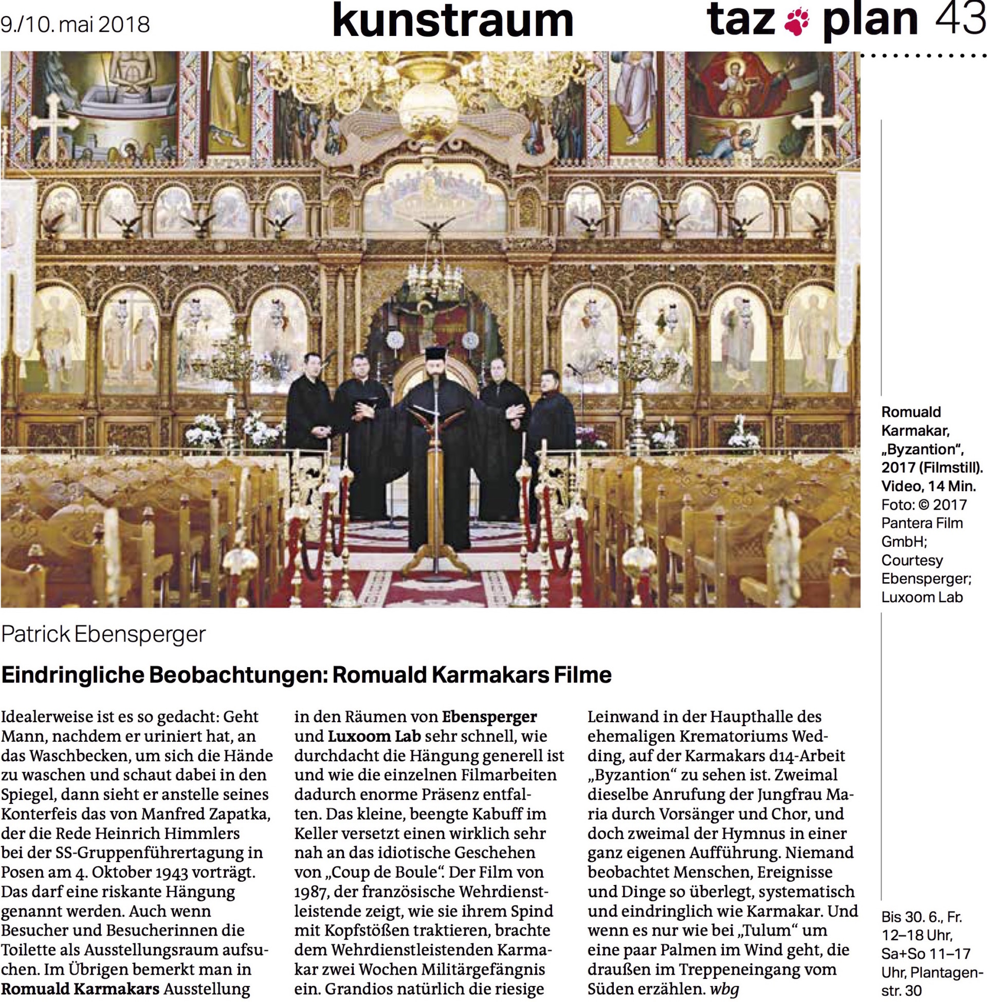 EBENSPERGER Karmakar Presse